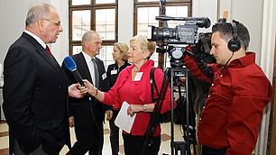Interview mit Prof. Rodenstock am Rande der Veranstaltung