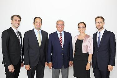 Die Preisträger mit Prof. Randolf Rodenstock und Prof. Dr. Isabel Schnabel