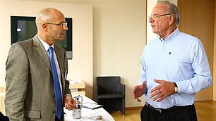 Prof. Randolf Rodenstock im Gespräch mit Joachim Hoffmann, BMW-Group