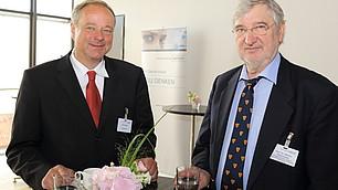 Minister a.D. Dirk Niebel und der Wirtschaftshistoriker Prof. Dr. Werner Abelshauser (von links)