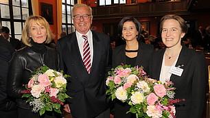 Randolf Rodenstock und Neşe Sevsay-Tegethoff mit Referentinnen