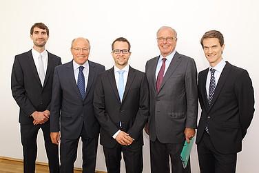vbw Präsident Alfred Gaffal, Randolf Rodenstock und die Preisträger