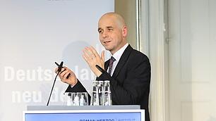 Holger Bonin vom Institut zur Zukunft der Arbeit sprach zu den Mythen der Arbeitswelt