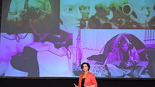 """""""Es liegt an uns den Wandel zu gestalten"""", RHI-Geschäftsführerin Nese Sevsay-Tegethoff eröffnet das RHI-Fachsymposium."""