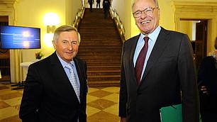 Alois Glück und Gastgeber Prof. Rodenstock