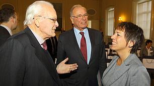 Roman Herzog im Gespräch mit Margot Käßmann auf dem RHI-Symposium am 24. November 2011