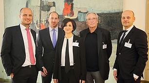 Gruppenbild: (v. l.) Prof. Dr. Dominik Enste, Thomas Lurz, Dr. Nese Sevsay-Tegethoff, Prof. Dr. Hans-Georg Soeffner und Prof. Dr. Dr. Alexander Brink