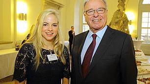 Poetry Slammerin Julia Engelmann mit Prof. Rodenstock