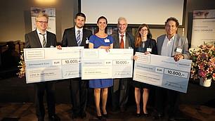 Die Preisträger mit den Laudatoren
