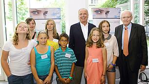 Roman Herzog und Randolf Rodenstock beim Kids-Talk zum zehnjährigen Bestehen des RHI