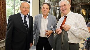 vbw Präsident Alfred Gaffal und die Laudatoren Dieter Frey und Karl Homann