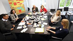 Gruppenarbeit zur Frage, wie sich der Wert der Arbeit in den nächsten 20 Jahren verändern wird.