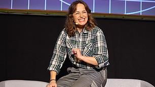 Julia Loibl in Aktion.