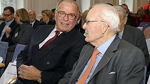 Prof. Rodenstock mit a.D. Prof. Herzog im Gespräch