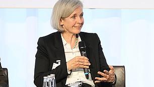 Prof. Dr. Ursula Münch, Direktorin der Akademie für Politische Bildung auf dem Podium