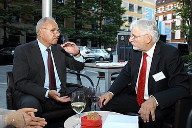 Das Conti Bistro bot einen angenehmen Rahmen für Gespräche nach der Veranstaltung