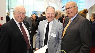 Empfang der Gäste: Dr. Wolfgang Heubisch und Prof. Randolf Rodenstock