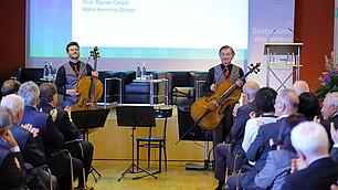 Das GinzelDuello umrahmte musikalisch die Preisverleihung