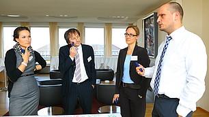 Katharina Hörner, Prof. Dr. Jürgen Weibler, Prof. Dr. Claudia Peus und Prof. Dr. Dominik Enste (v. l)