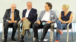 Die vier Experten auf dem Podium