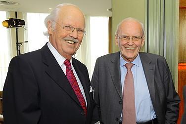 Prominente Diskutanten Otto Wulff und Roman Herzog