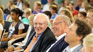 von links: Prof. Herzog, Prof. Rodenstock und Prof. Frey im Publikum