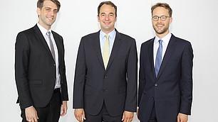 Die Preisträger: Dr. Julian F. Müller, Dr. Ekkehard Köhler, Dr. Friedrich von Schönfeld