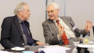 Prof. Dr. Soeffner mit Prof. Dr. Dr. Karl Homann (v. l.)