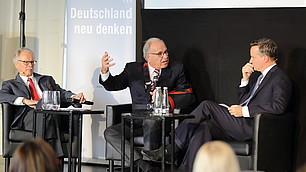 Eröffnungsgespräch mit dem Gastgeber Randolf Rodenstock und Bruno Frey