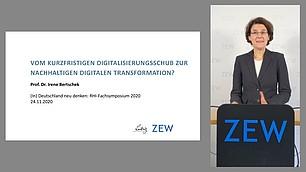 Ganz in ihrem Element ist Irene Bertschek zum Thema: Digitalisierung und Wirtschaft