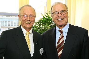Michael Kühne mit dem Gastgeber Prof. Randolf Rodenstock (v. l.)