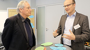 Prof. Dr. Hans-Karl Soeffner und Prof. Dr. Alexander Filipovic (v. l.)