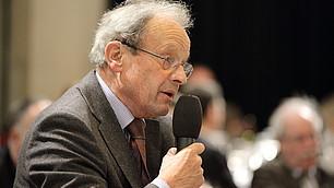 Energischer Widerspruch und Gegenstatements kamen von Franz Ruland, dem eh. Geschäftsführer des Verbandes der Deutschen Rentenversicherungsträger.