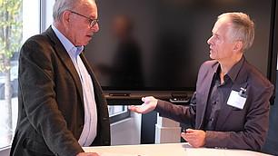 Randolf Rodenstock und Andreas Brandhorst im Gespräch