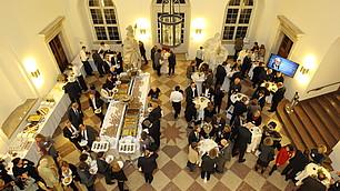 Kulinarischer Ausklang im Foyer des Schloss Nymphenburg