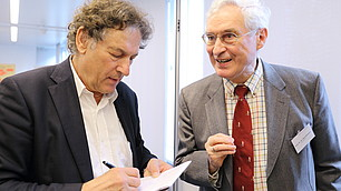 Prof. Dr. Dieter Frey, Prof. für Sozial- und Wirtschaftspsychologie und Prof. Dr. Dr. Karl Homann, em Prof. für Philosophie und Ökonomik