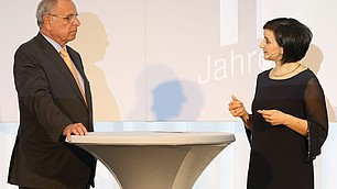 Prof. Randolf Rodenstock im Zwiegespräch mit Dr. Nese Sevsay-Tegethoff