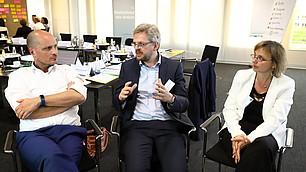 Dominik Enste und Nils Goldschmidt in der Diskussion