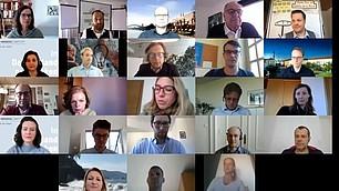 Digitaler Workshopraum mit den Teilnehmer*innen