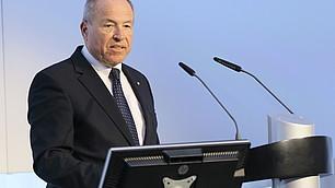 vbw-Präsident Alfred Gaffal bei seinem Grußwort