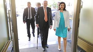 Bundespräsident a.D. Roman Herzog und RHI-Geschäftsführerin Nese Sevsay-Tegethoff
